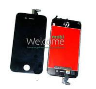 Модуль iPhone 4S black с рамкой (оригинал) дисплей экран, сенсор тач скрин для телефона смартфона