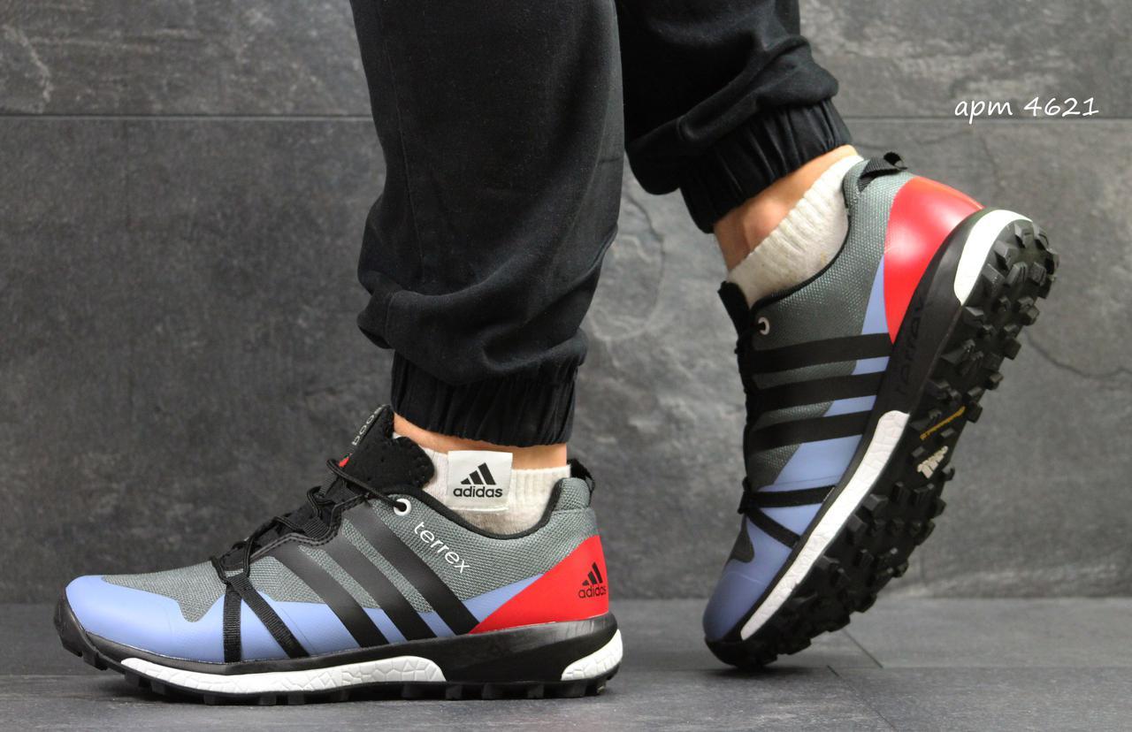 b21c23863cb5 Кроссовки мужские Adidas Terrex Boost серые с красным, цена 990 грн ...