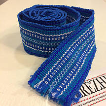 Крайки пояса для вышиванок синие, фото 3