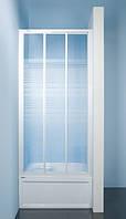 Душевая дверь Sanplast Classic стеклянная раздвижная на роликах 80х185 DTR-c-80-S W4