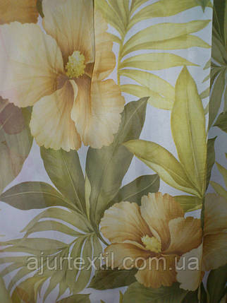 """Тюль печать """"Желтый цветок"""", фото 2"""
