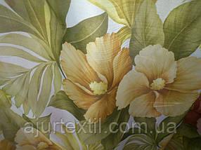 """Тюль печать """"Желтый цветок"""", фото 3"""