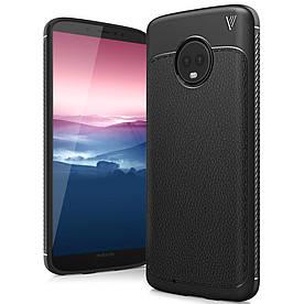 Чехол накладка для Motorola Moto G6 силиконовый, IVSO Gentry Series, Черный