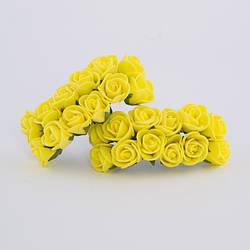 Троянди з фоамирана розміром 3,5 см