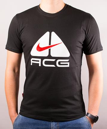 Чёрная мужская футболка Nike (Найк) ACG | 100 % хлопок, размеры: 44-52, фото 2
