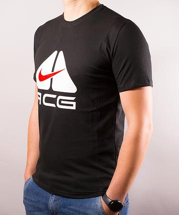 1f57a57e Чёрная мужская футболка Nike (Найк) ACG | 100 % хлопок, размеры: 44 ...