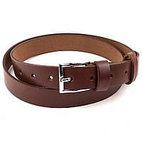 Женский кожаный ремень S-02 (светло-коричневый) (2,4 см)