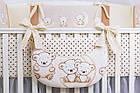 Комплект постельного белья Asik Мишки на луне ванильно-коричневого цвета 8 предметов (8-284), фото 3