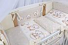 Комплект постельного белья Asik Мишки на луне ванильно-коричневого цвета 8 предметов (8-284), фото 5