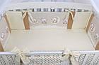 Комплект постельного белья Asik Мишки на луне ванильно-коричневого цвета 8 предметов (8-284), фото 6