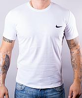 Белая мужская футболка Nike (Найк) | 100 % хлопок, размеры: 44-52
