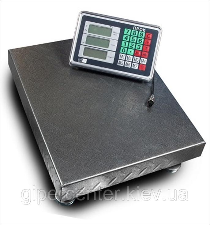 Весы товарные-торговые ПРОК ВТ-300-Р2 до 300 кг, 400х500 мм