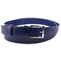 Женский кожаный ремень S-03 (синий)