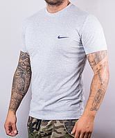 Светло-серая мужская футболка Nike (Найк) | размеры: 44-52, 100 % хлопок