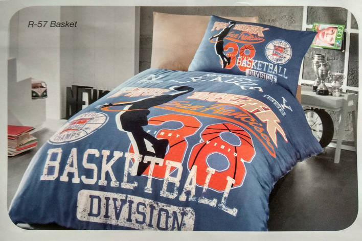 """Детское полуторное постельное белье First Choice Ranforce """"Basket"""", фото 2"""