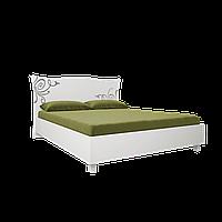 Ліжко з ДСП/МДФ в спальню Богема 1,6х2,0 з каркасом білий Миро-Марк