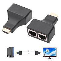 Подовжувач HDMI по RJ45 витій парі до 30м, UTP