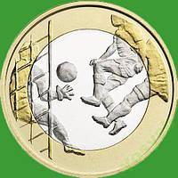 Финляндия 5 евро 2016 г. Футбол .