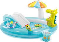 Детский надувной игровой центр с крокодилом (бассейн) Интекс 57129