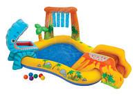 Детский надувной игровой центр Интекс 57444 Динозаврик