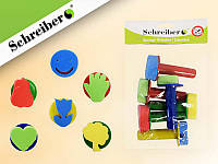 Набор штампиков художественных с пластиковыми рукоятками, материал - ЭВА/EVA, 6 шт