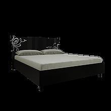 Ліжко з ДСП/МДФ в спальню Богема 1,6х2,0 з каркасом чорний Миро-Марк