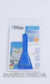 Рольф клуб капли от клещей и блох для кошек до 4кг