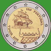 Португалия 2 евро 2015 г. 500-летие первого контакта с Тимором. UNC