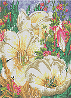 """Схема для вышивки бисером  W-558 """"Волшебные цветы"""" (Чарівні квіти)"""