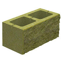 Блок бетонный Квадра 400x200x200 мм горчичный