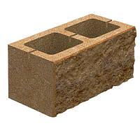 Блок бетонный Квадра 400x200x200 мм персиковый