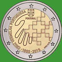 Португалия 2 евро 2015 г.150 лет Красному Кресту Португалии . UNC