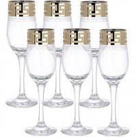 """Набор бокалов для шампанского. 200мл рис.""""Греческий узор"""" GE03-160"""