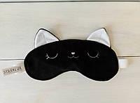 """Маска для сна """"Котенок Айси"""", черный"""