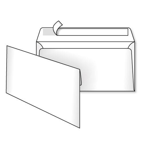 Конверт Е65 11х22 см белый 1 шт