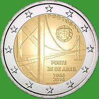 Португалия 2 евро 2016 г. 50-летие моста имени 25 апреля. UNC