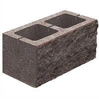 Блок бетонный Квадра 400x200x200 мм коричневый