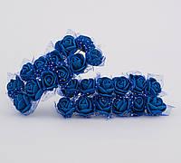 Розы из латекса с фатином 3.5 см, уп. 144 шт.