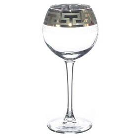 """Набор бокалов для вина 280мл 6шт. с рисунком """"Греческий узор"""". GE03-1688"""
