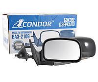Зеркало черное с поворотом Condor K1091 на ВАЗ 2109/08/13-15 (2 шт.), фото 1