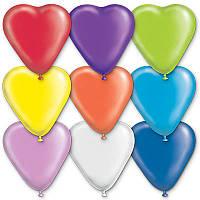 """Воздушные шарики """"Сердце пастель 16""""  50 шт."""