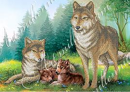 """Схема для вышивки бисером  W-331 """"Вовки"""""""