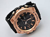 Часы  G-Shock - Global System, водозащита 5Bar,  черные c золотистым