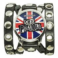 """Наручные часы на эксклюзивном ремешке """"Sex Pistols"""""""