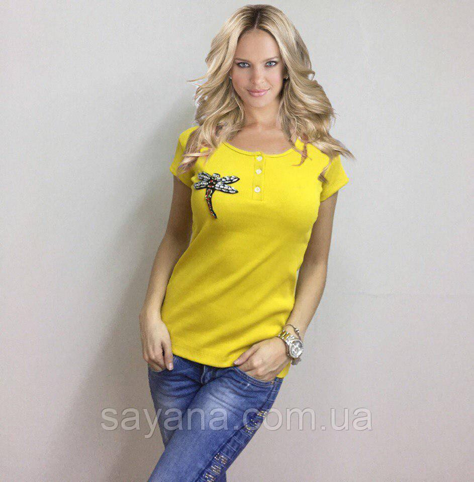 0b264fbd7a8d Купить Женскую футболку с декором
