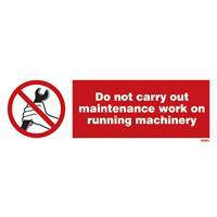 Vs, do not carry out maintenance work on running machinery, cg (10x30)
