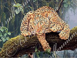 "Схема для вышивки бисером  W-281 ""Леопард"""