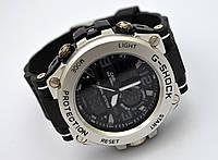 Часы  Shock - Global System, водозащита 5Bar,  черные c серебром, фото 1