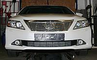 Декоративно-защитная сетка радиатора Toyota Camry фальшрадиаторная решетка, бампер, фото 1