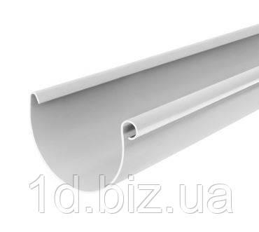 Желоб водосточной системы Бриза (Bryza) 100 мм белый